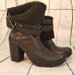 Bronx Black leather Booties